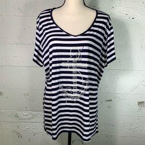 Women's embellished nautical top
